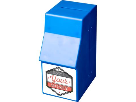 Capital ATM-shaped plastic money box