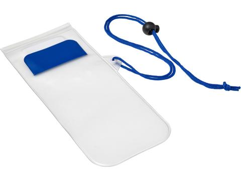 Plastic water-resistant protective pouch for mobile devices