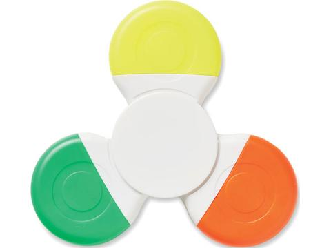Spinmark hand spinner with 3 colours highlighters