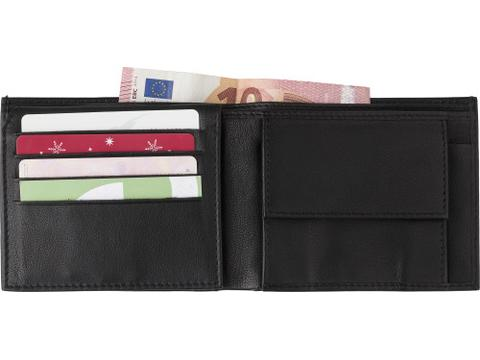 Split leather RFID purse