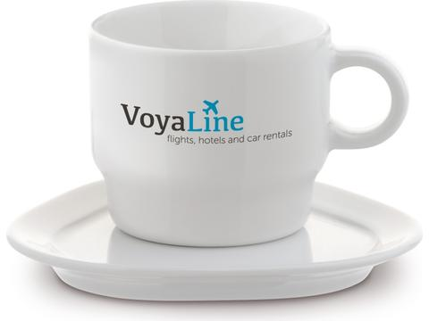 Small Stackable Cup & Saucer Satellite Triangle