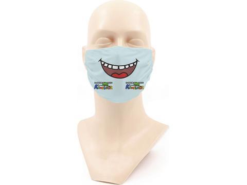 Wasbaar stoffen mondmasker met bedrukking voor kinderen