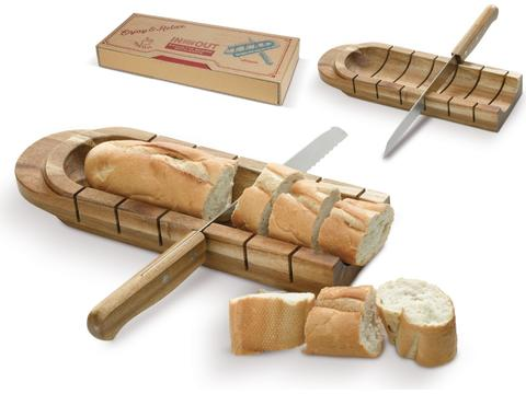 Baguette board with knife