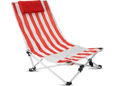 Strandstoel met nekkussen