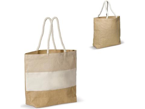 Beach bag jute/juco/cancas