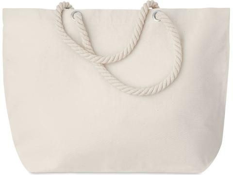 Strandtas met touw handvaten