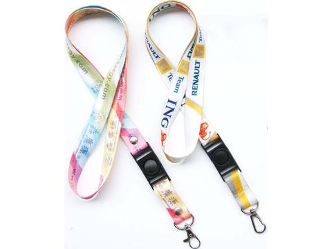 Sublimation lanyard met buckle 15 mm