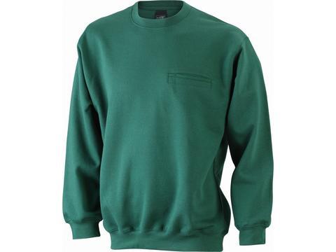 Sweat-Shirt Poche Poitrine