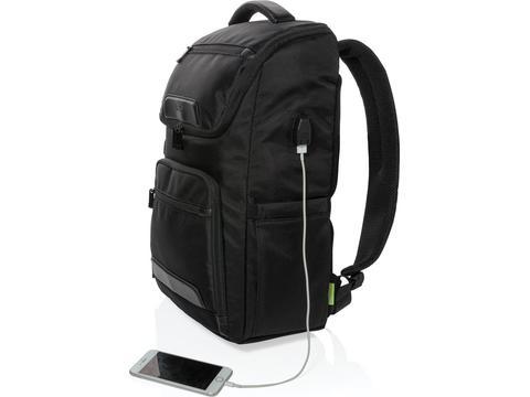 Swiss Peak RPET Voyager USB RFID laptop rugtas