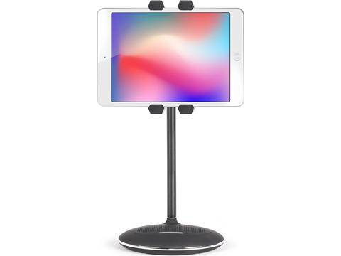 Tablet stand with speaker