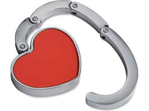 Bag holder in heart shape