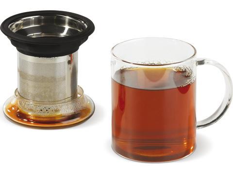 Teatime thee glazen met theezeef - 300 ml