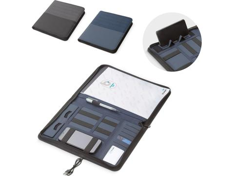 Deluxe A4 tech portfolio with wireless charger 5W