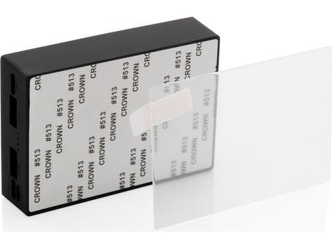 Powerbank 5000 mAh induction et verre trempé personnalisable