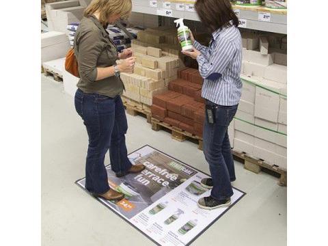 Terra floor poster display A1