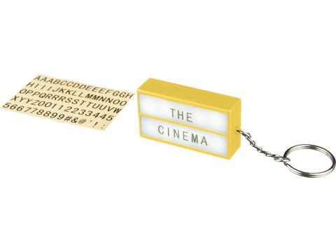 The Cinema lightbox sleutelhanger