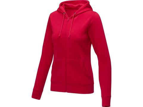 Theron dames hoodie met ritssluiting