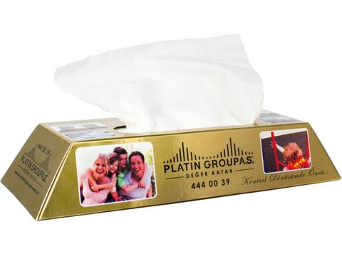 Tissue box gold bar