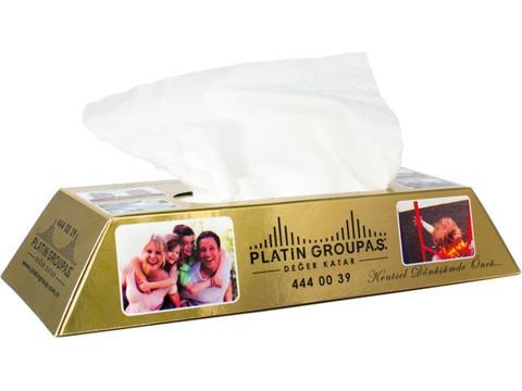Tissue box gold bar