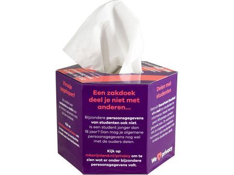 Tissue box hexagon