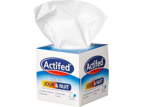 Tissue box met zakdoekjes