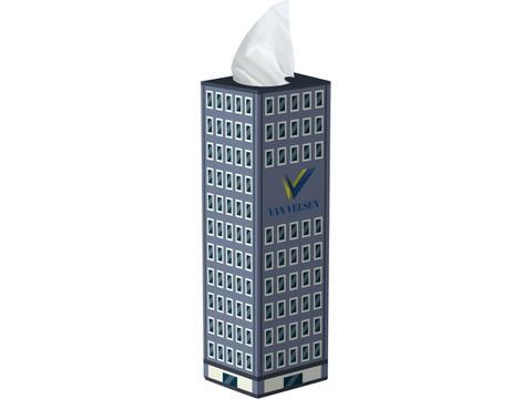 Tissue box tower