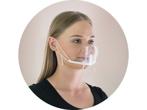 Transparant gezichtsmasker met verstelbare bandjes