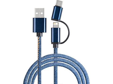3 en 1 Cable de charge - 2 mètres