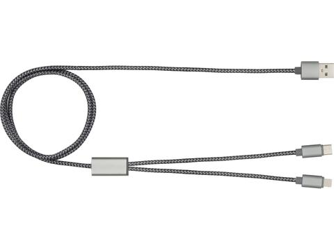 Trident+ charging cable for Apple & Android