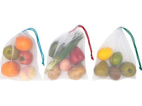Trio RPET mesh pouch set