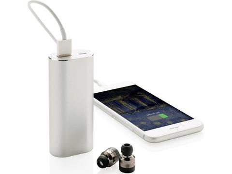 True wireless oordoppen met powerbank - 2000 mAh