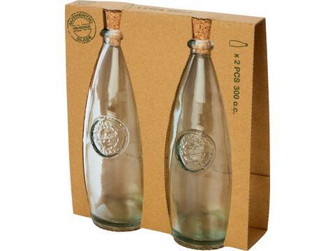 Ensemble Sabor de 2 pièces en verre recyclé pour huile et vinaigre