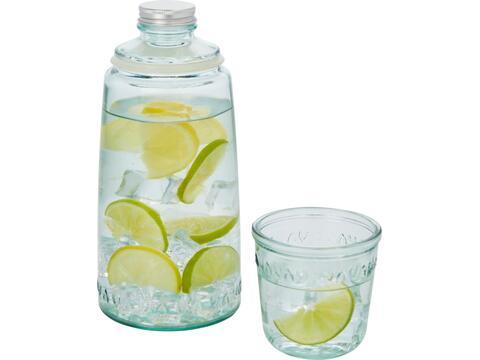 Tweedelige water set gerecycled glas - 1000 ml