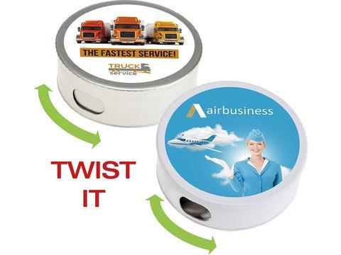 Twist tin