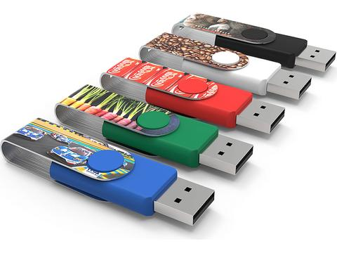 Twister Max Print USB stick - 2GB