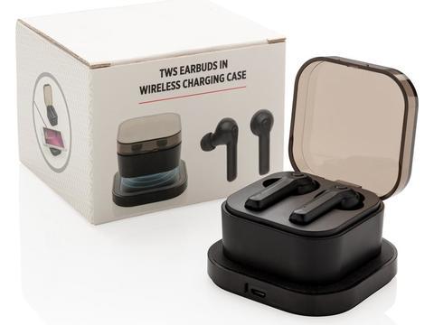 Ecouteurs sans fil TWS dans un boitier de charge