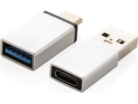 Set d'adaptateurs USB A et USB C