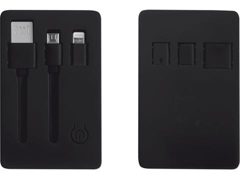 USB connector 3-in-1 met zaklamp