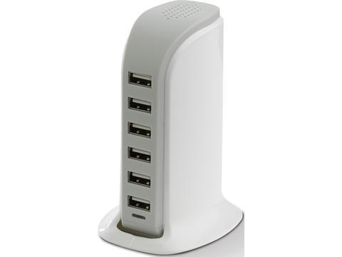 USB laadstation met 6 poorten