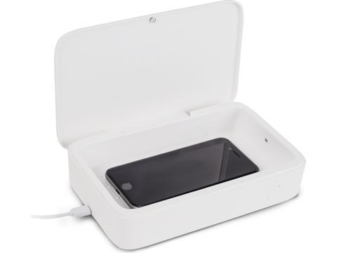 Boîte Stérilisatrice UV-C avec Chargeur sans Fil 5W