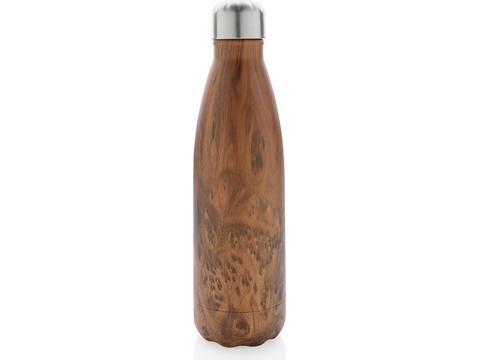 Vacuüm roestvrij stalen fles met houtdessin - 500 ml