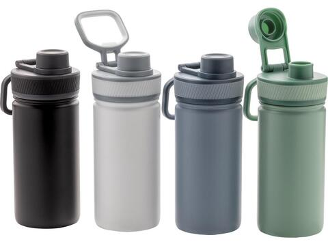 Vacuum stainless steel bottle with sports lid - 550 ml