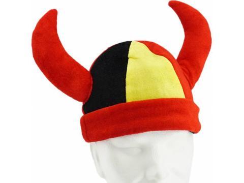 Vikinghoed in Belgische kleuren