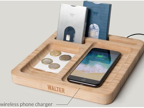 Walter Bamboo Dock wireless charger