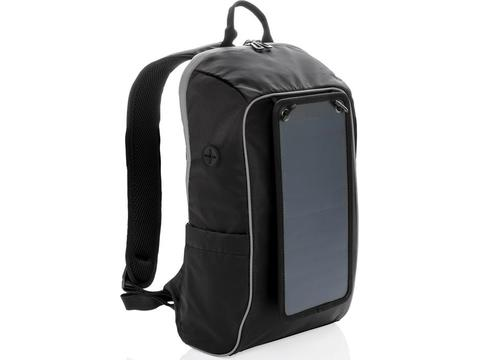Solar panel power hiking backpack PVC free