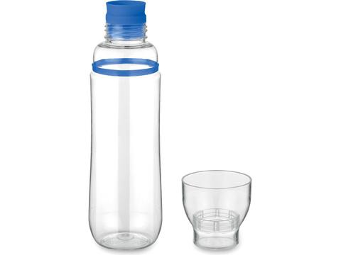Drinking bottle with glass