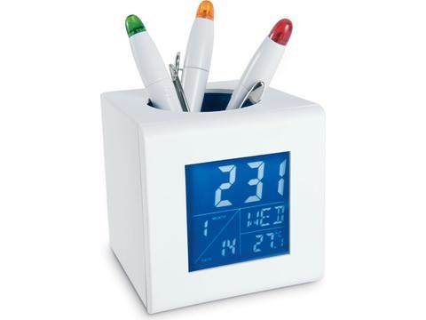 Station météo avec porte stylo