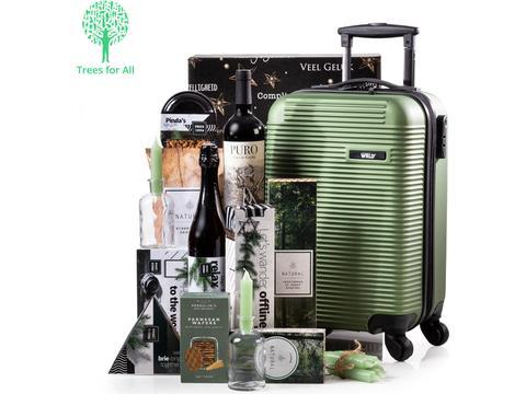 Kerstpakket groene trolley