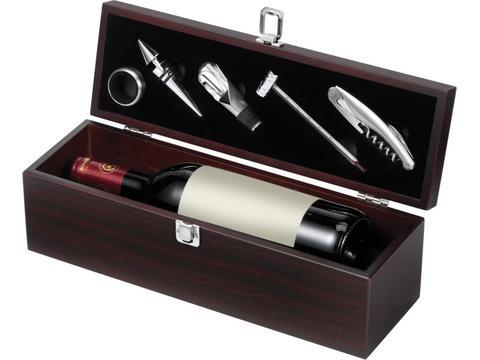 Wijnkist met 5 wijn accessoires