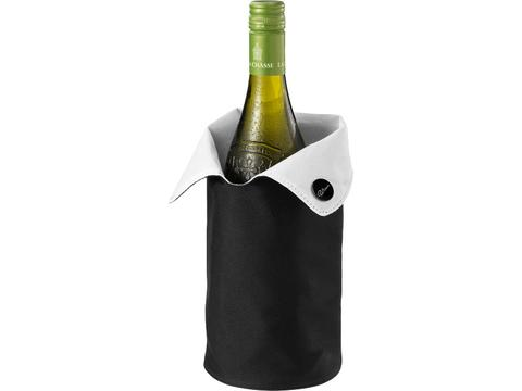 Wijnkoelmanchet met fles Oude Kaap wijn